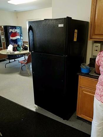 Ebony Frigidaire over under refrigerator freezer