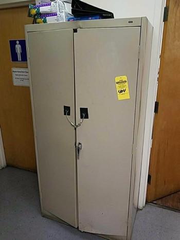Two door steel cabinet