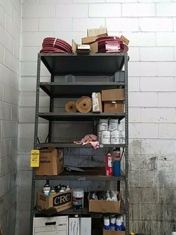 10 Shelf metal industrial shelving unit and