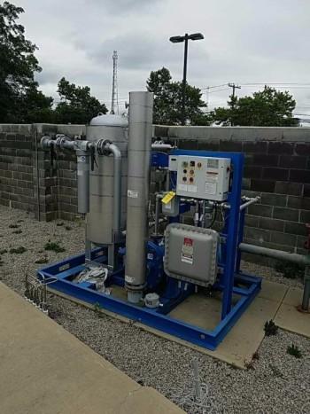 Compressed natural gas dryer