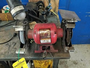 8 inch bench grinder with lamp
