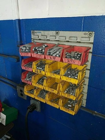 Tire weights and stems three boxes