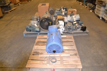 5 PALLETS OF ASSORTED AC MOTORS, 1/15 HP-40 HP