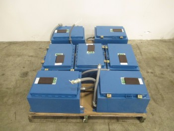 LOT OF 7 CONTROL PANEL ENCLOSURES 120VAC 60 HZ CURRENT 1A 01 PHASE