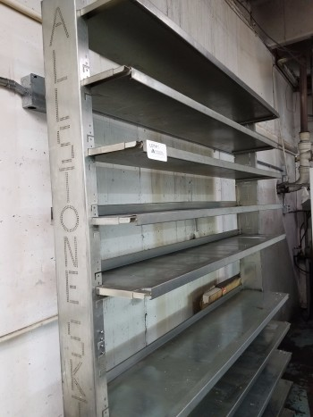 Adjustable stainless steel shelve system