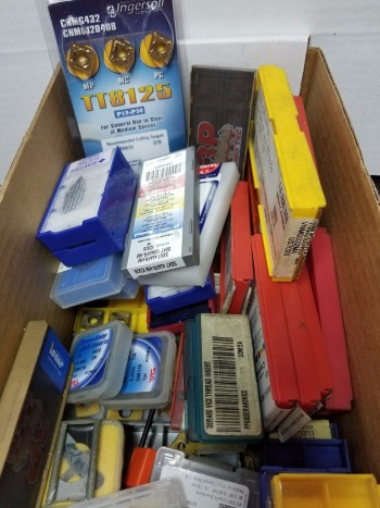 Large assortment of inserts ( Mostly carbide ) New