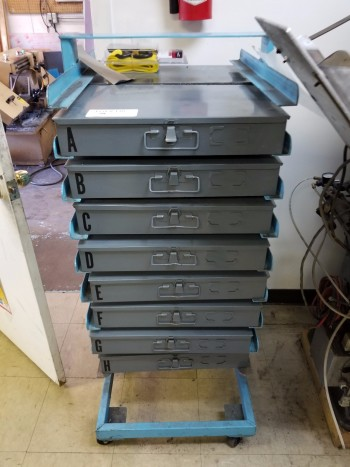 Rolling 16 Drawer Organizer