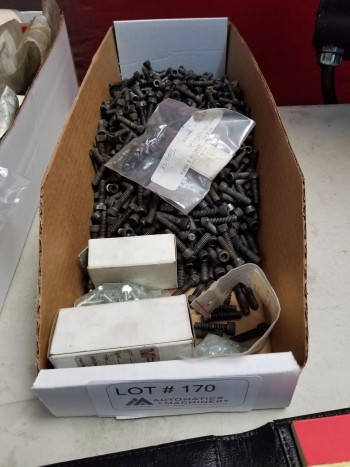 Large box of 1/4-20 allen head screws