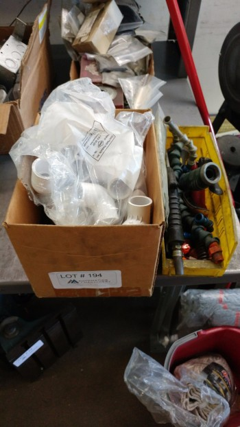 Box of air fittings, pvc parts