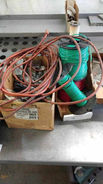 Misc electrical wire, boxes, ect