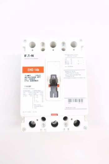 EATON EHD3070 70A CIRCUIT BREAKER