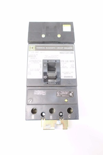 SQUARE D KA36125 125A CIRCUIT BREAKER
