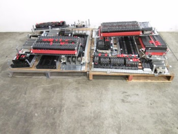 2 PALLETS OF GE CIRCUIT BREAKERS AND PANELS