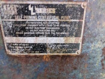 Gorman Rupp Self Priming Centrifugal Pump