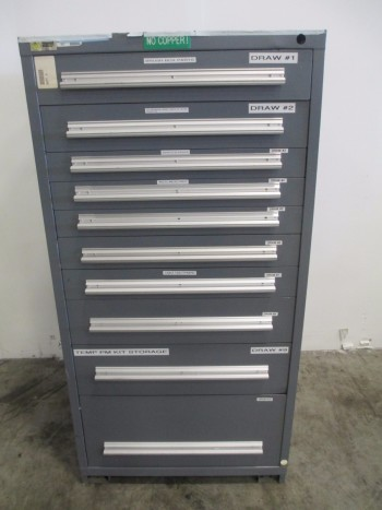 STANLEY VIDMAR 10 DRAWER TOOL BOX/STORAGE