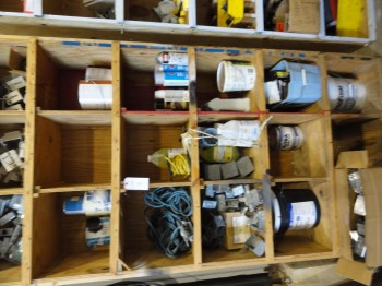 Shelving & Contents: Wall Plates, Outlet boxes and paint