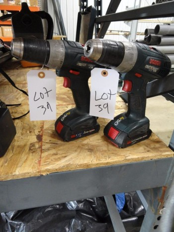 Two Bosch 18v Drills