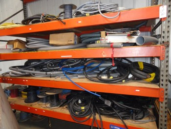 4 Shelves of Miscellaneous Wiring