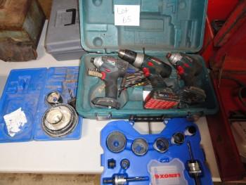 Three Bosch hand drill & Impact & Drill