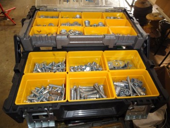 7 organizers of screws, nuts, bolts, washers