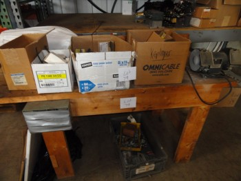 Boxes - electricial parts, work bench and grinder