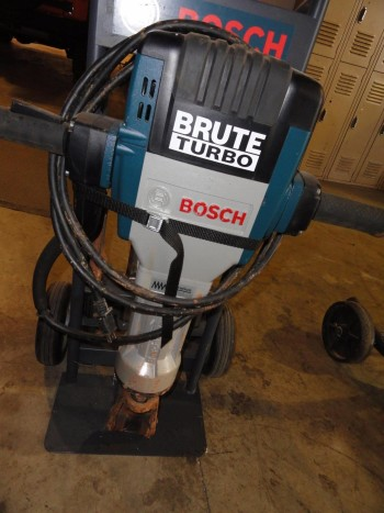Bosch Brute Jack Hammer -Electric w/Attachments & Dolly (like new)