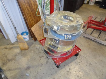 Wire Coil Pack Rack w/wiring spools of: \