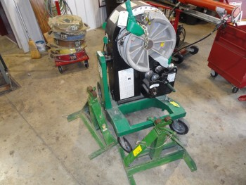 Green Lee 854  Bender (needs wiring work) & job box with attachments