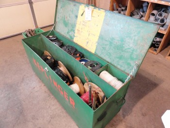 Job Box-4\'  x 2\' GreenLee, wiring spools included