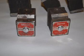 LOT OF 5 STARRETT MAGNETIC BASES, NO. 658, NO. 657