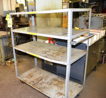 Metal 4 Tier Storage Stock Cart