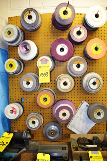LOT - Assorted Grinding Wheels on Wall