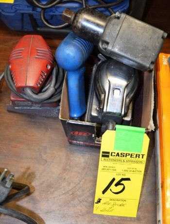 Assorted Tools, Air Sanders, and Drills