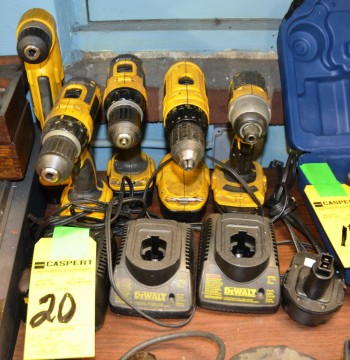 LOT - Assorted Dewalt Cordless Power Drills