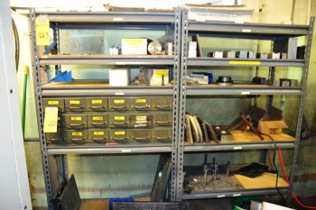 LOT - Holddowns Clamps/Vise Jaws in 2 Cabinets