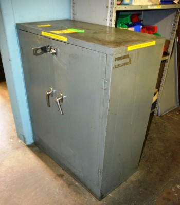 LOT - Storage Cabinet with Contents