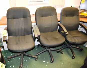 Assorted Black Swivel Chairs