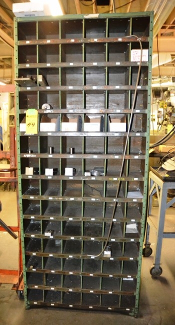 LOT - Metal Compart Shelving with Contents