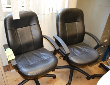 Black Arm Swivel Chairs
