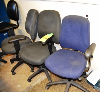 Assorted Grey and Blue Swivel Chairs