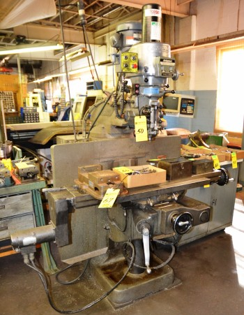 BRT Milling Machine w Power Feed & Trak Bx Read Out BR267242E