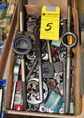 LOT - Assorted Threading Dies and Handles