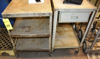 Assorted Metal Shop Carts