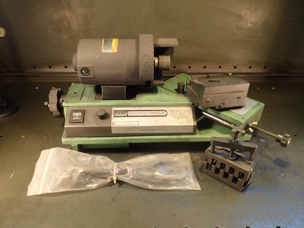 TDR SRD 82-R 1/4 HP 7800-RPM End MIll Drill Sharpener Grinder: 115V, Used Good