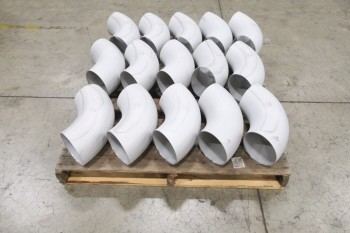 1 PALLET OF 6IN SCH 5S, 316SS, ELBOW PICOR FOOD GRADE PIPE FITTINGS