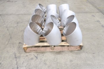 1 PALLET OF 10IN 45 DEG. SCH 5S, 316SS, ELBOW PICOR FOOD GRADE PIPE FITTINGS