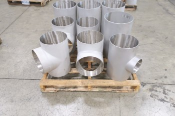1 PALLET OF ASSORTED T PICOR FOOD GRADE PIPE FITTINGS, SCH 5S, 316SS
