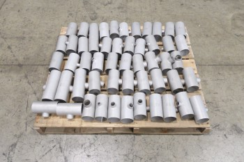 1 PALLET OF ASSORTED T, PICOR FOOD GRADE PIPE FITTINGS, SCH 5S, 316SS