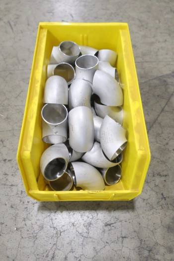 1 PALLET OF 1-1/2IN ELBOW PICOR FOOD GRADE PIPE FITTINGS, SCH 5S, 316SS