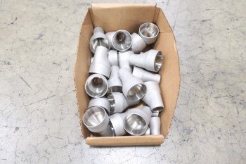 1 PALLET OF ASSORTED PICOR FOOD GRADE PIPE REDUCING FITTINGS, SCH 5S, 316SS